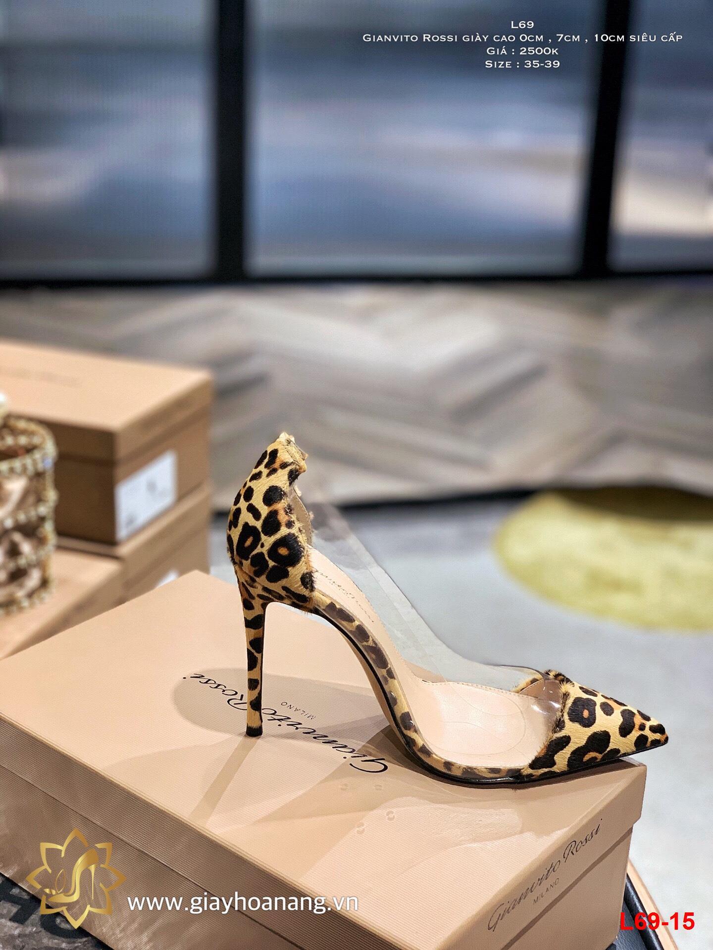 L69-15 Gianvito Rossi giày cao 0cm , 7cm , 10cm  siêu cấp