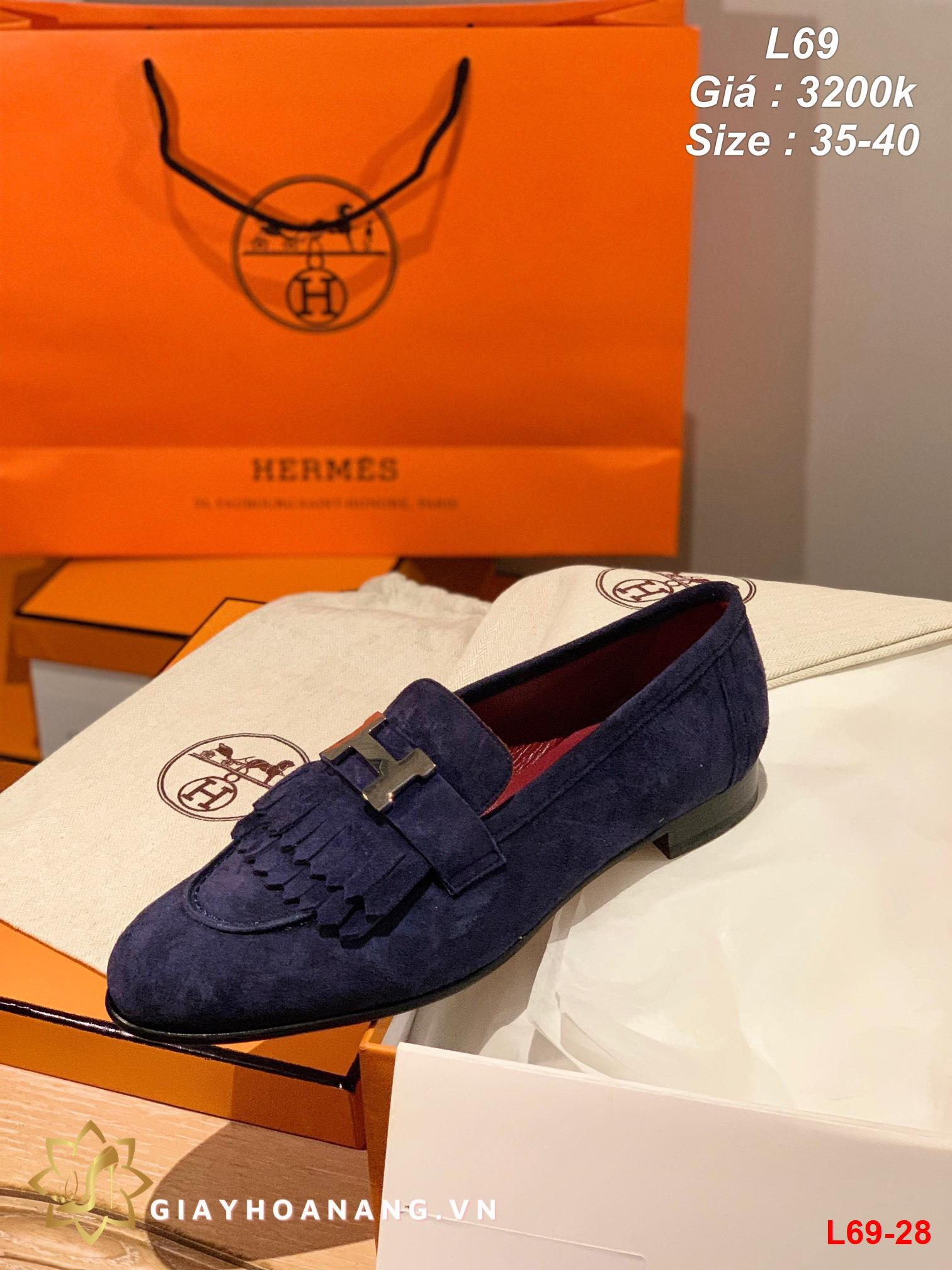L69-28 Hermes giày lười siêu cấp