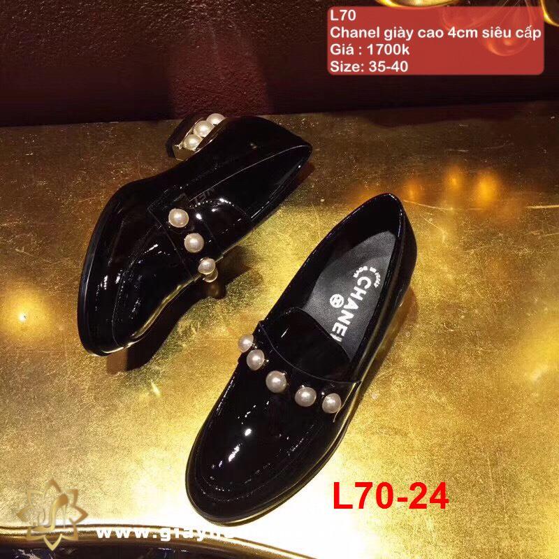 L70-24 Chanel giày cao 4cm siêu cấp