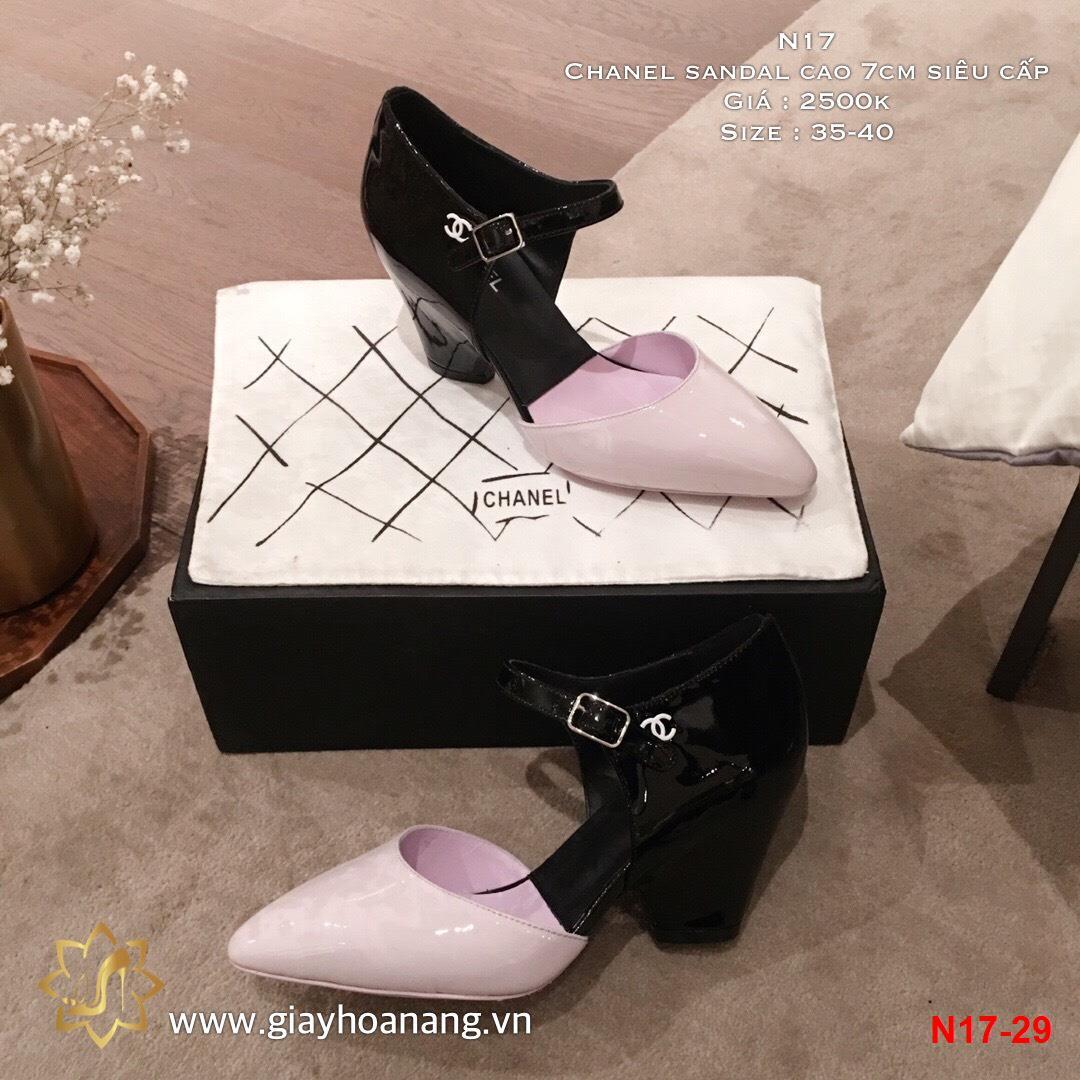 N17-29 Chanel sandal cao 7cm siêu cấp