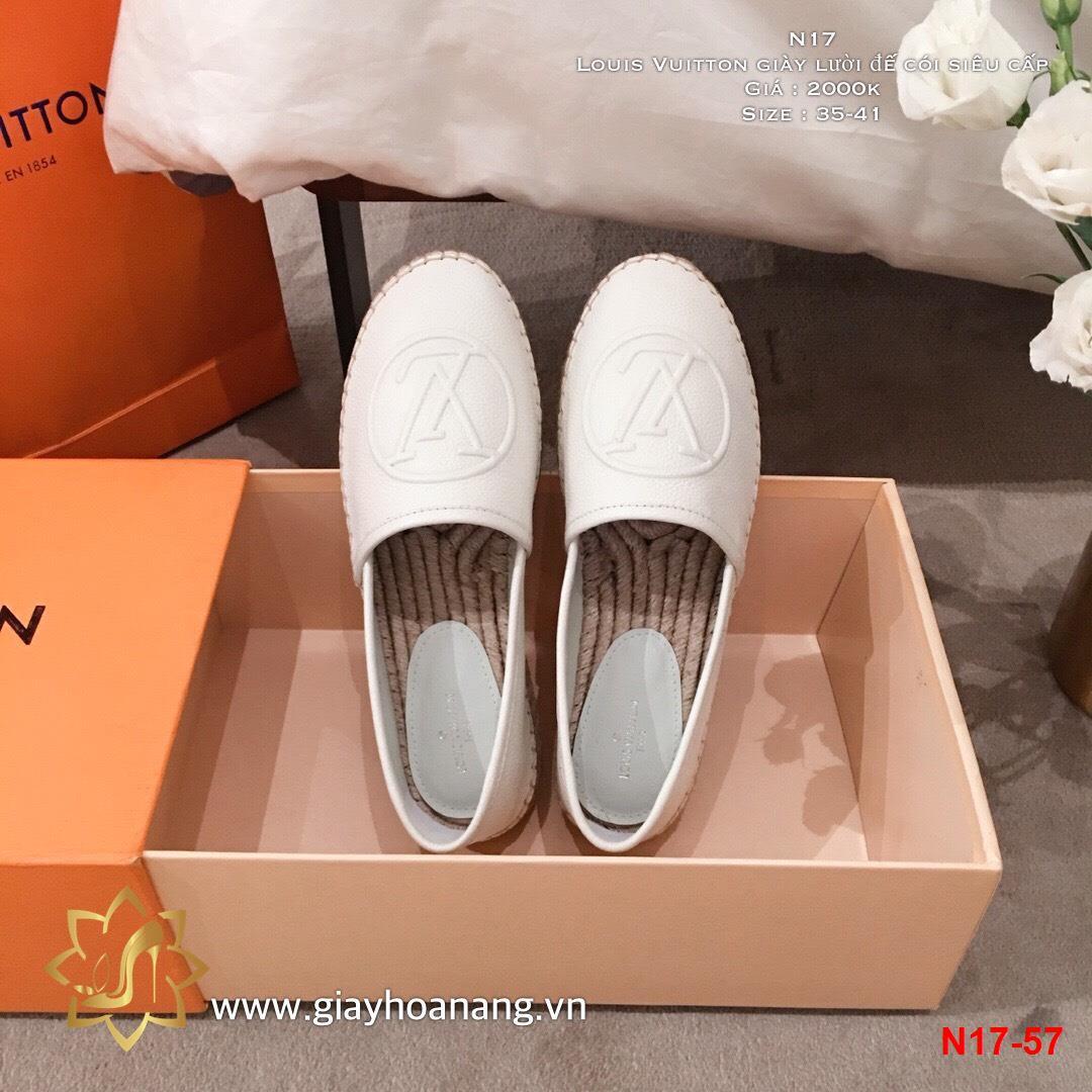 N17-57 Louis Vuitton giày lười đế cói siêu cấp
