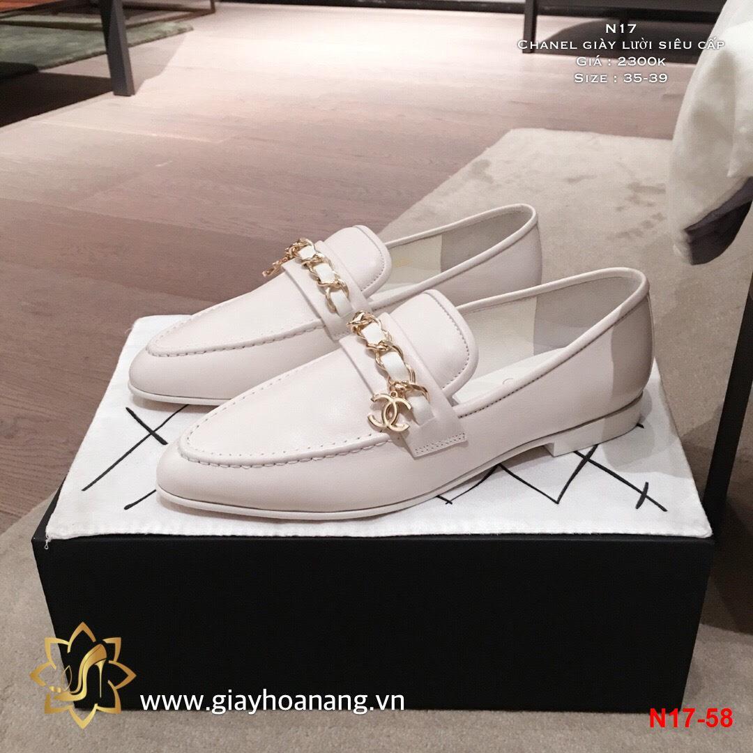 N17-58 Chanel giày lười siêu cấp