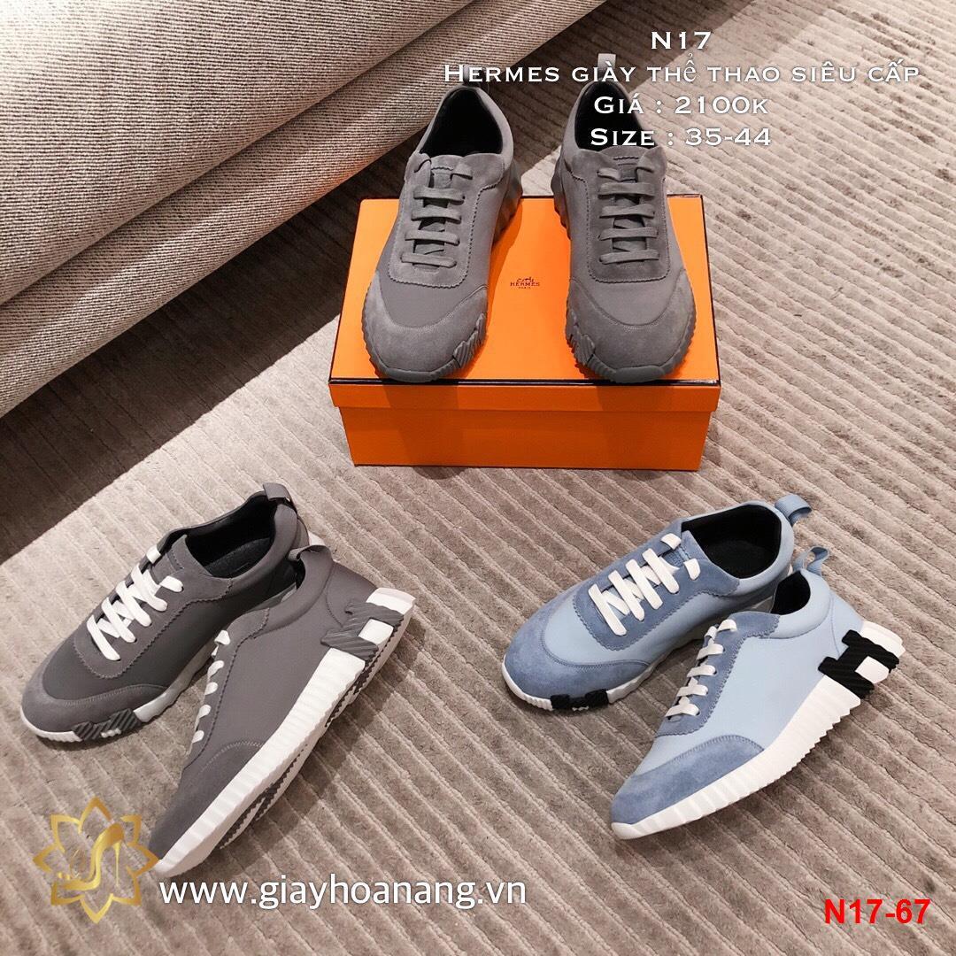 N17-67 Hermes giày thể thao siêu cấp