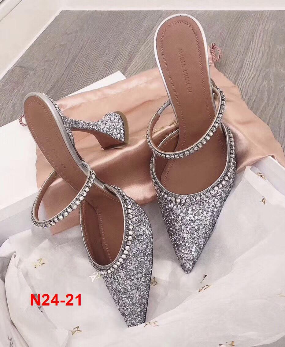 N24-21 Amina Muaddi sandal cao 10cm siêu cấp