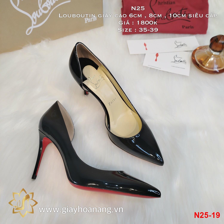 N25-19 Louboutin giày cao 6cm , 8cm , 10cm siêu cấp