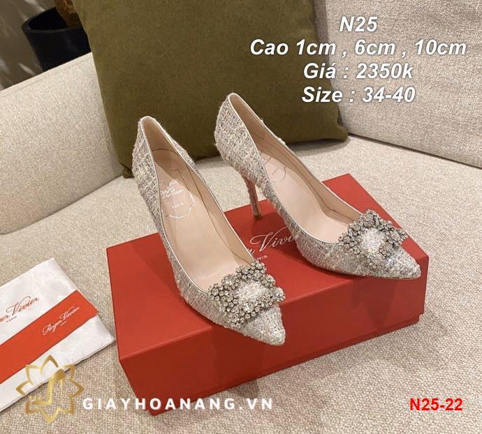 N25-22 Roger Vivier giày cao 1cm , 6cm , 10cm siêu cấp