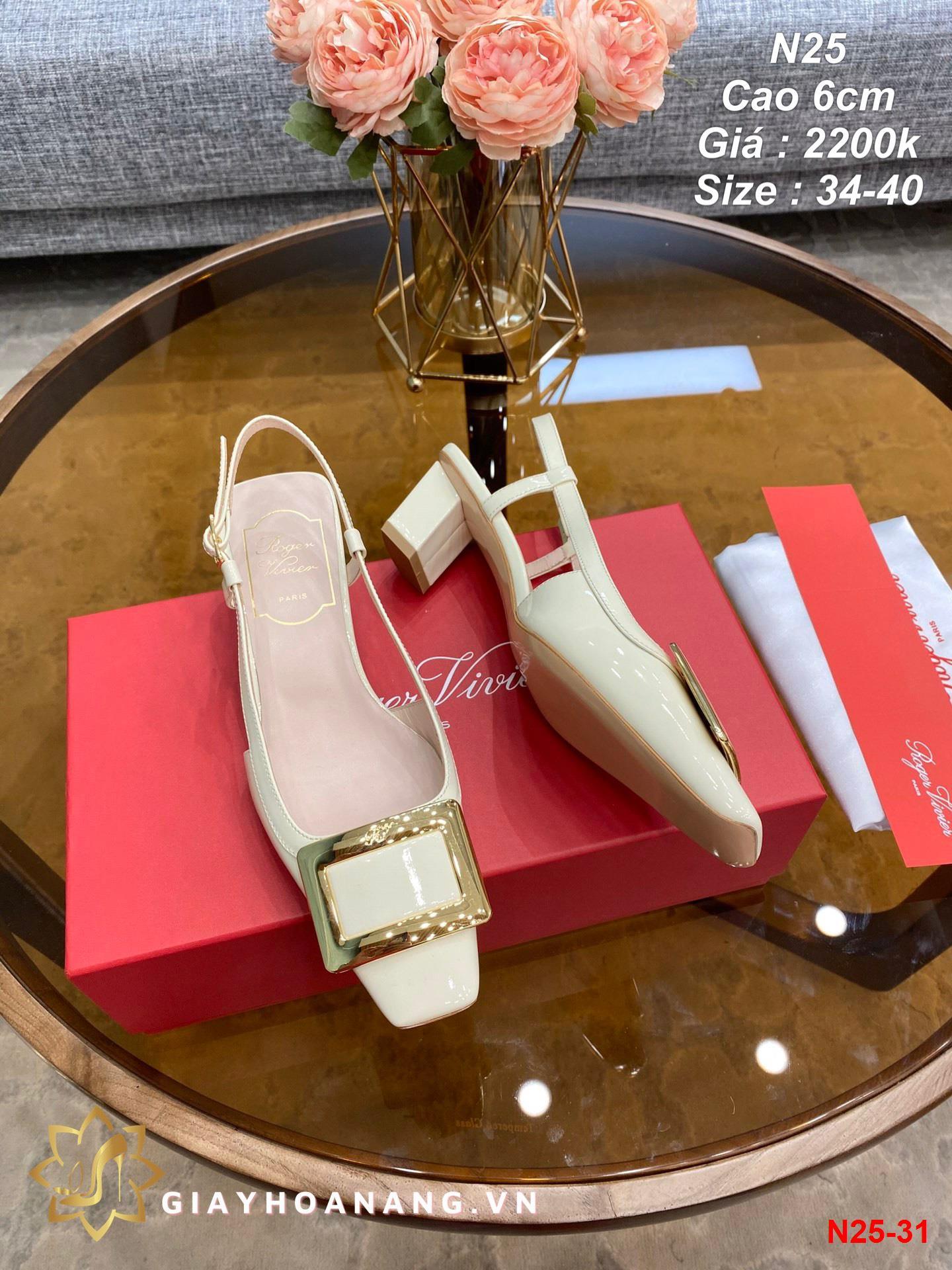 N25-31 Roger Vivier sandal cao 6cm siêu cấp