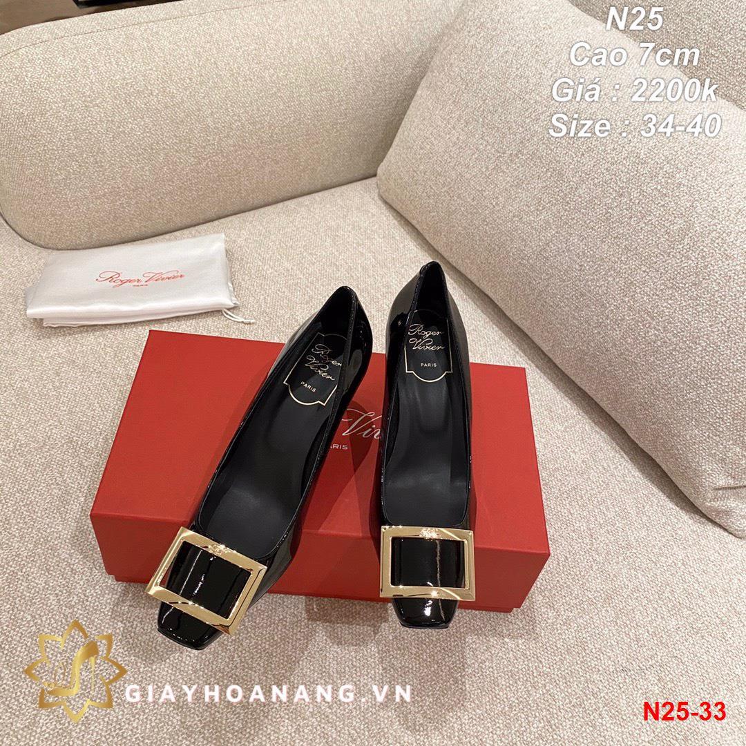 N25-33 Roger Vivier giày cao 7cm siêu cấp
