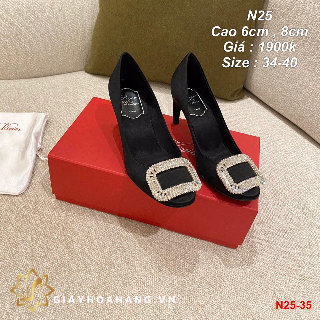 N25-35 Roger Vivier giày cao 6cm , 8cm siêu cấp