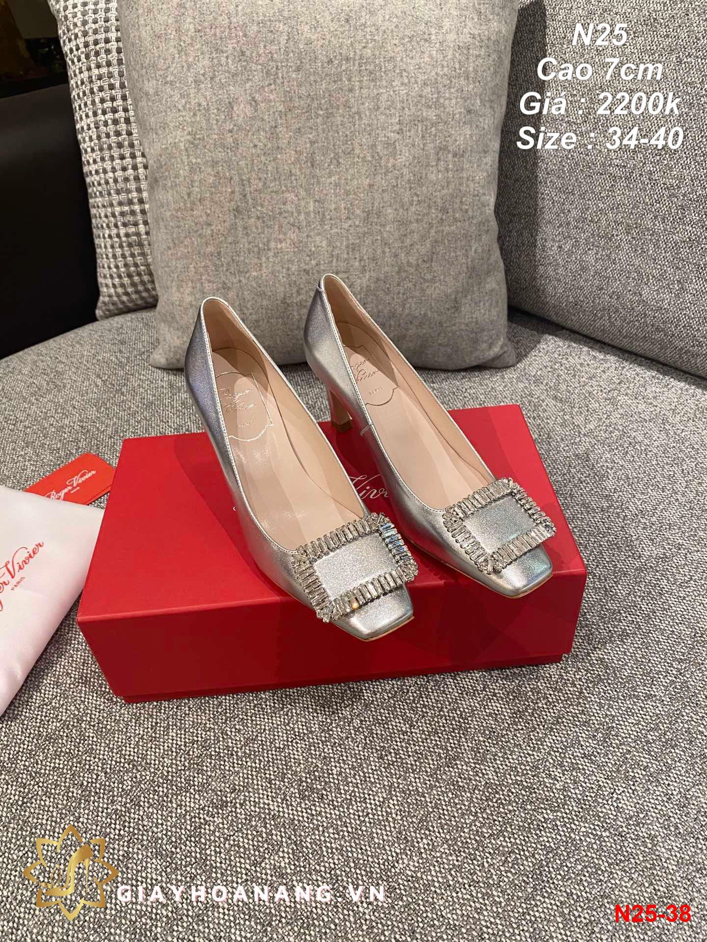 N25-38 Roger Vivier giày cao 7cm siêu cấp
