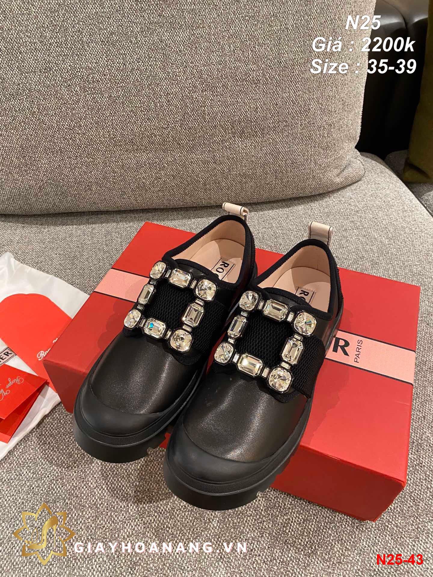 N25-43 Roger Vivier giày lười siêu cấp