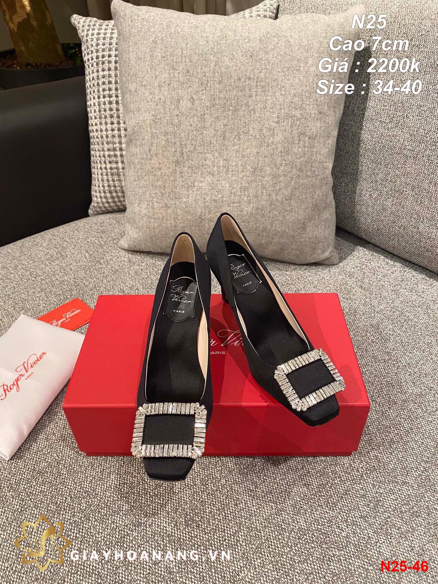 N25-46 Roger Vivier giày cao 7cm siêu cấp