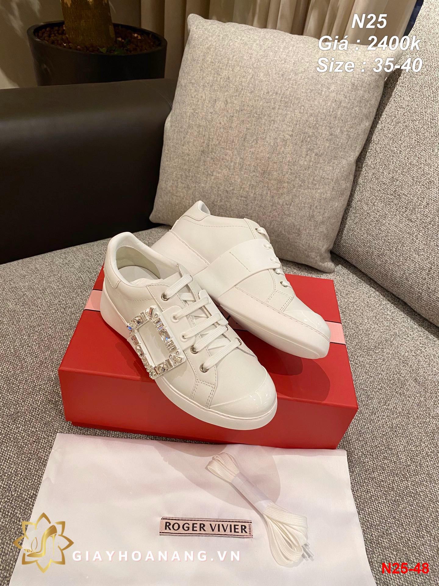 N25-48 Roger Vivier giày thể thao siêu cấp