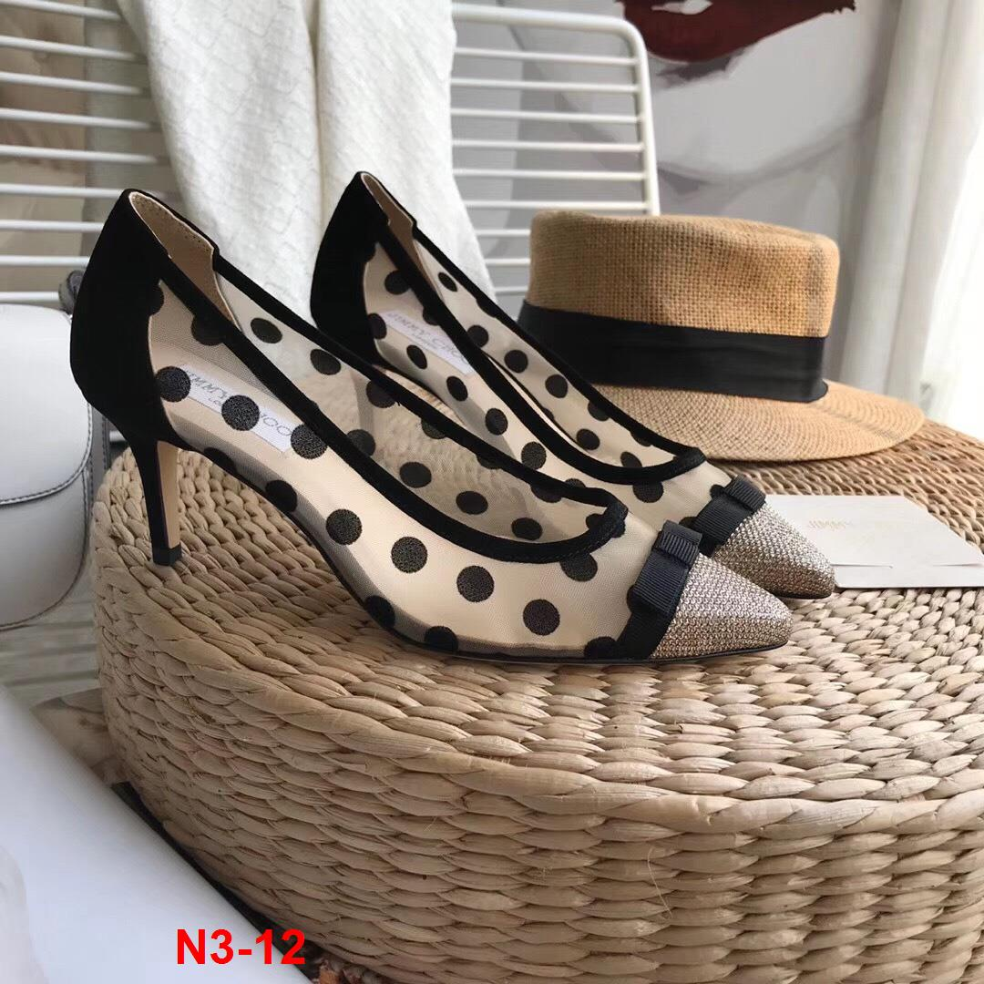 N3-12 Jimmy Choo giày bệt, cao 6cm siêu cấp