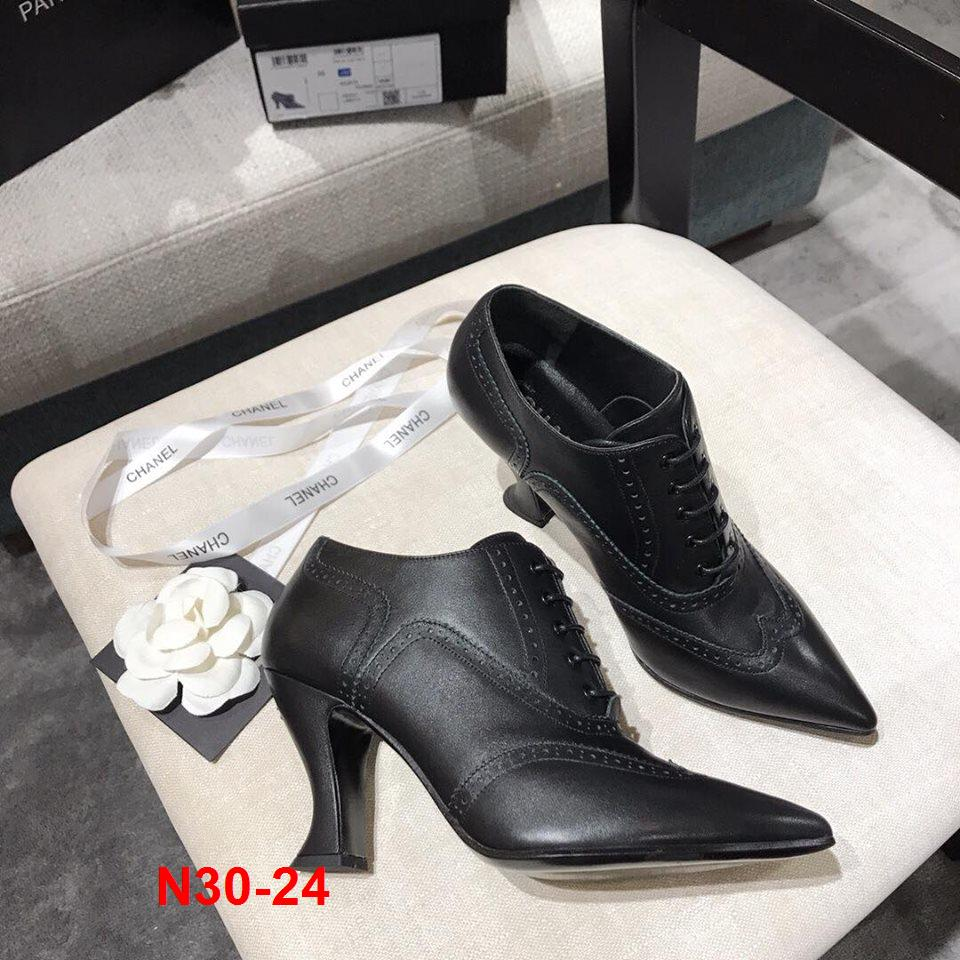N30-24 Chanel giày cao 9cm siêu cấp
