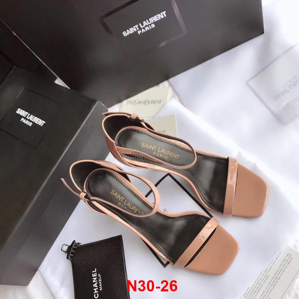 N30-26 Saint Laurent YSL sandal cao 10cm siêu cấp