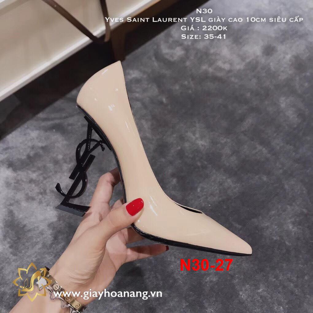 N30-27 Yves Saint Laurent YSL giày cao 10cm siêu cấp