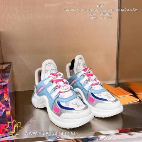 N30-34 Louis Vuitton giày thể thao siêu cấp