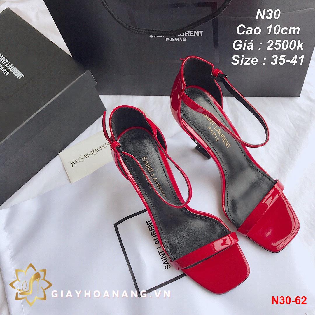 N30-62 Saint Laurent sandal cao 10cm siêu cấp