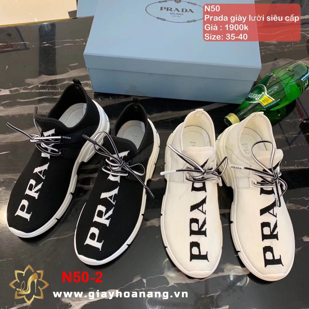 N50-2 Prada giày lười siêu cấp