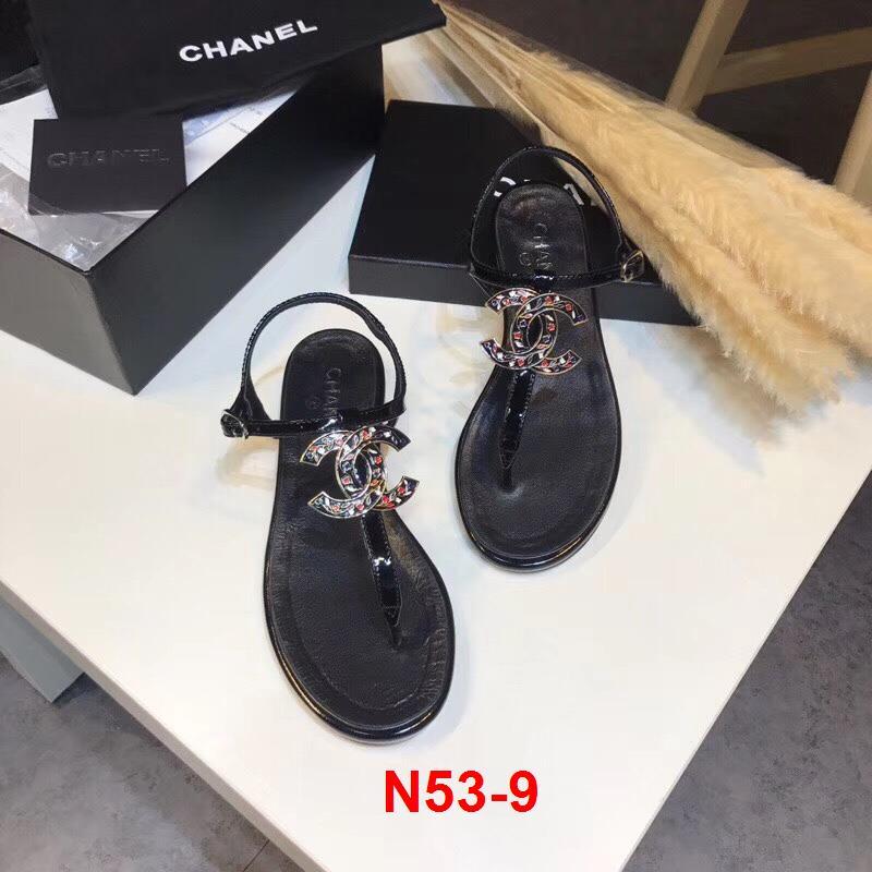 N53-9 Chanel sandal cao 2cm siêu cấp