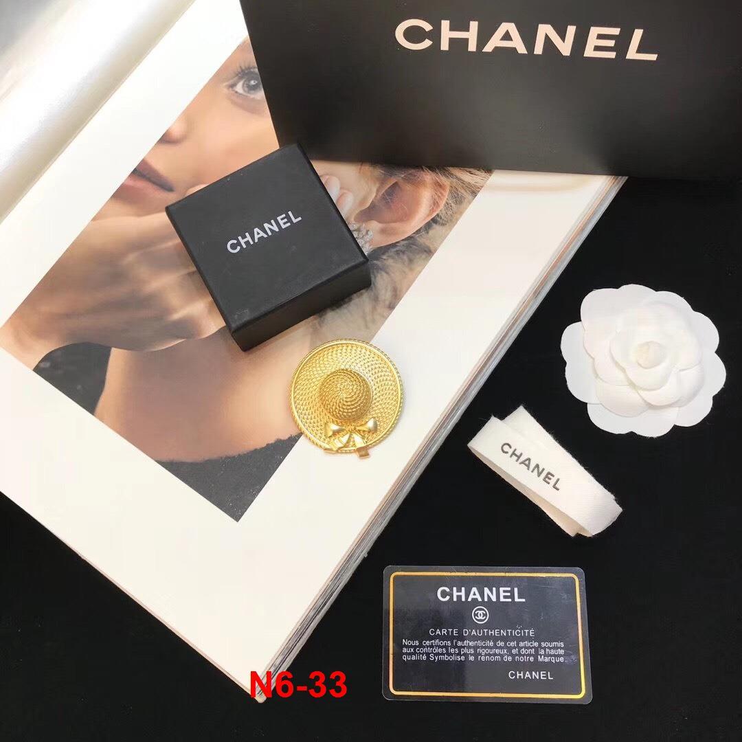 N6-33 Chanel phụ kiện khuyên tai, cài áo siêu cấp