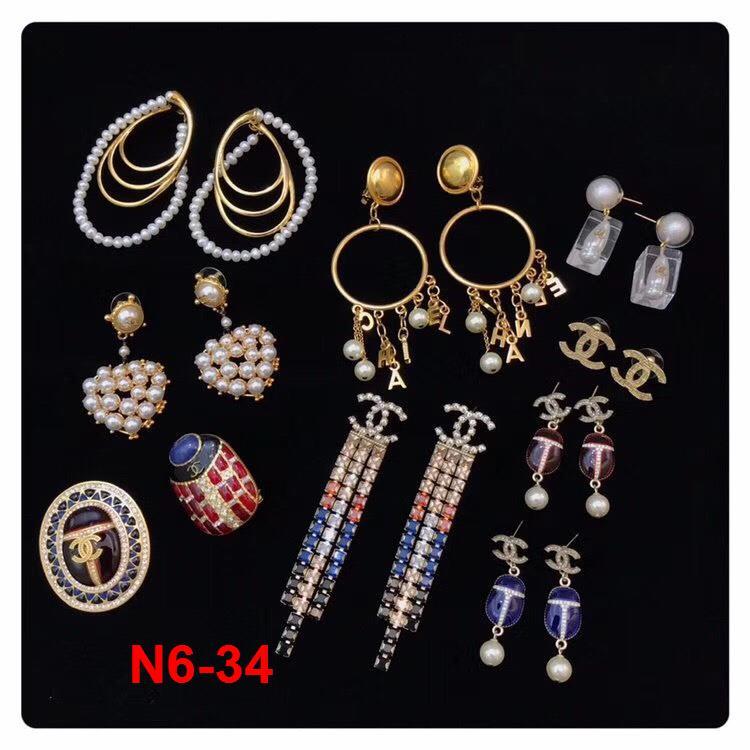 N6-34 Chanel phụ kiện khuyên tai, cài áo siêu cấp