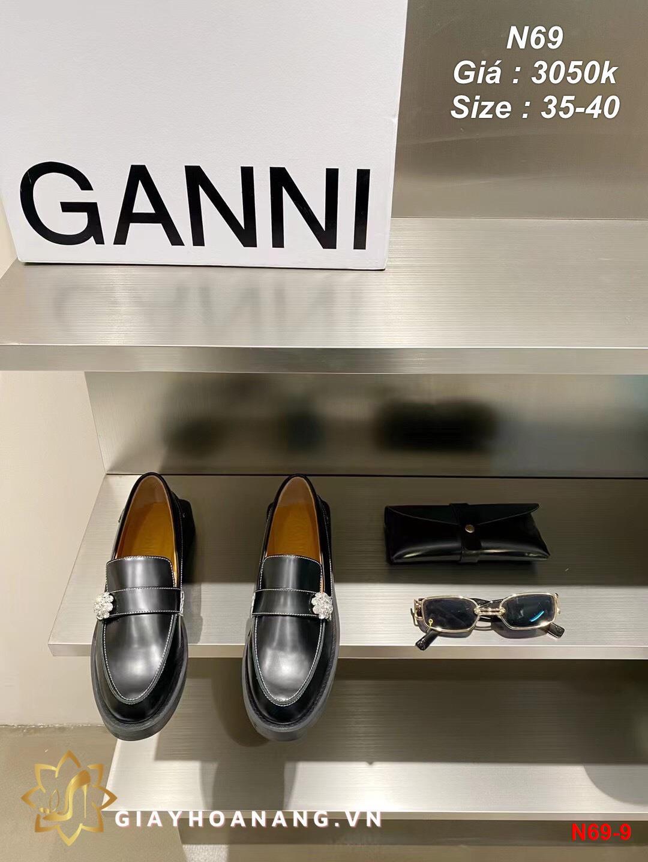 N69-9 Ganni giày lười siêu cấp