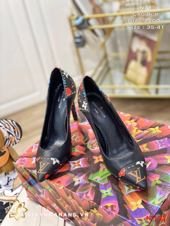 N71-23 Louis Vuitton giày cao 9cm siêu cấp