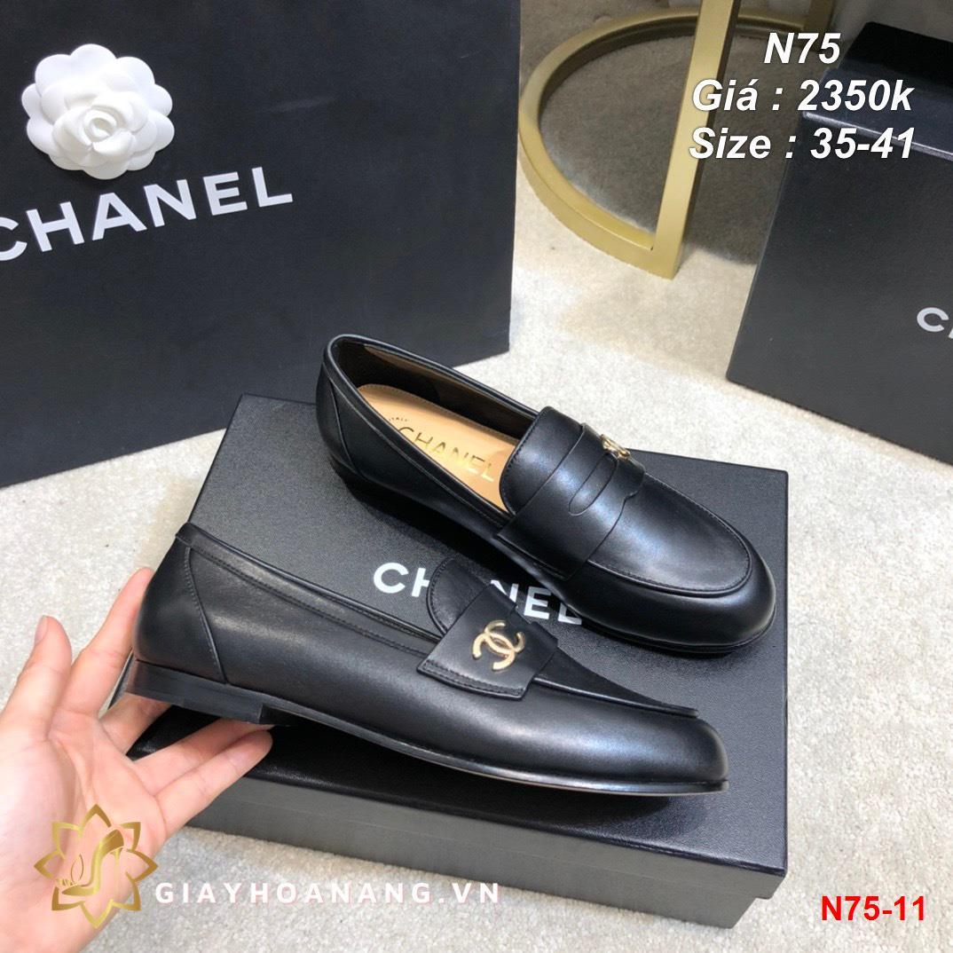 N75-11 Chanel giày lười siêu cấp