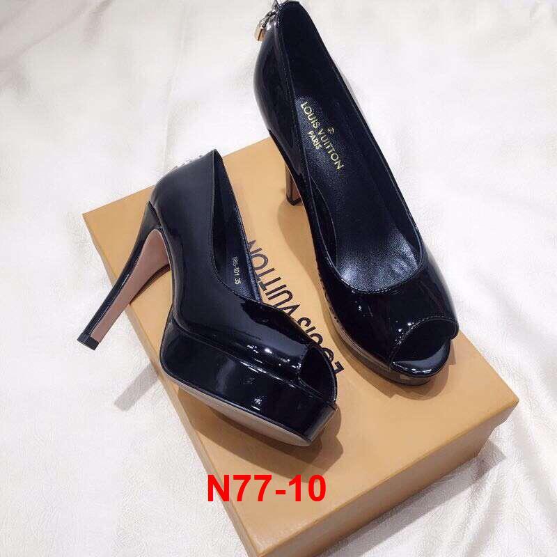 L67 -  Louis Vuitton giày cao 10cm đế kếp 3cm siêu cấp