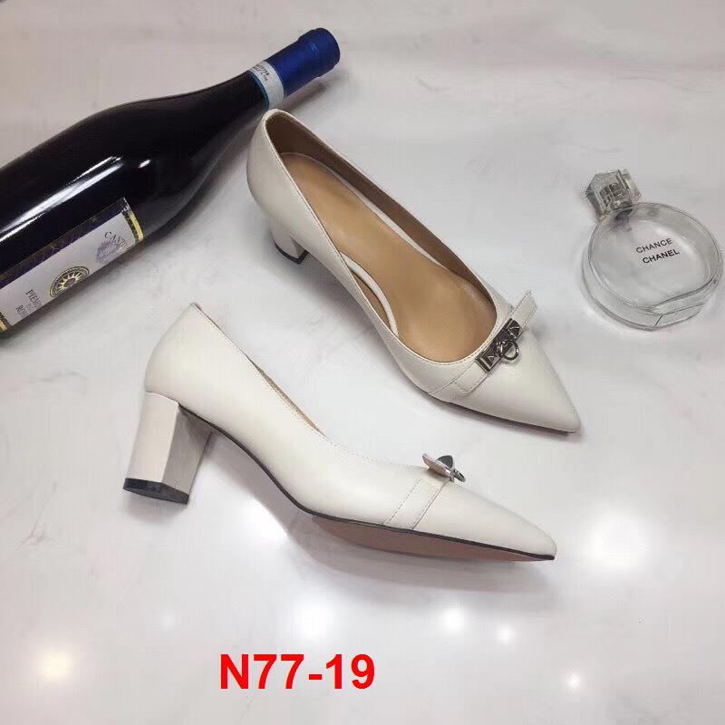 N77-19 Hermes giày cao 6cm siêu cấp