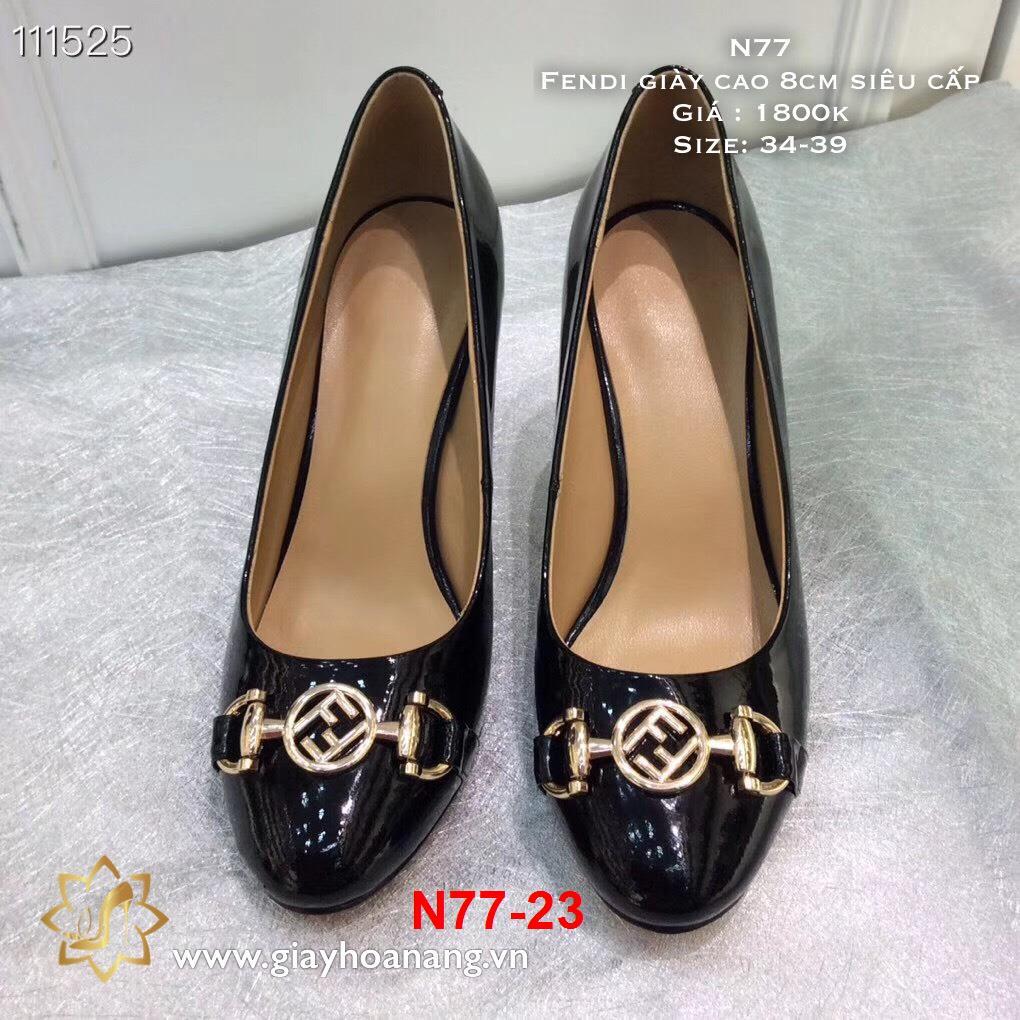 L67 -  Fendi giày cao 8cm siêu cấp