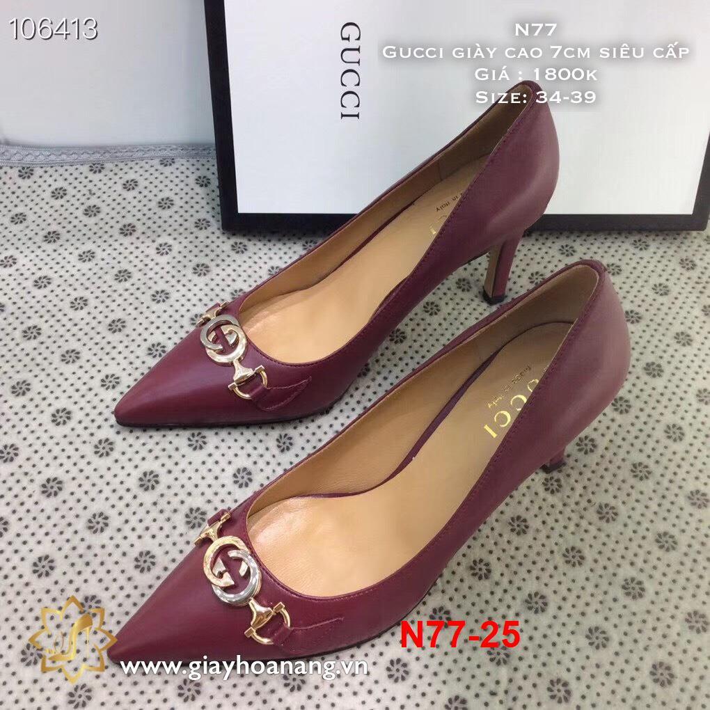 L67 -  Gucci giày cao 7cm siêu cấp