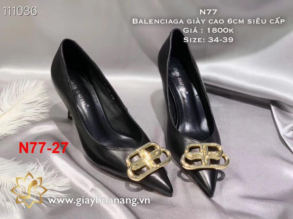 L67 -  Balenciaga giày cao 6cm siêu cấp