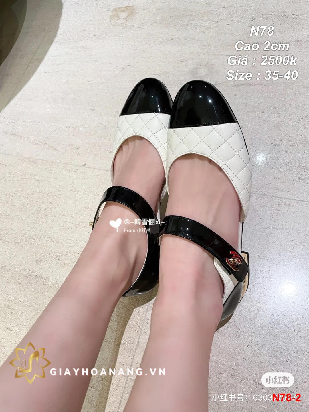 N78-2 Chanel sandal cao 2cm siêu cấp