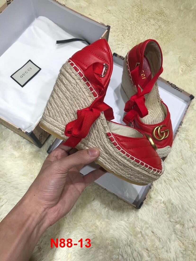 N88-13 Gucci sandal cao 10cm đế xuồng siêu cấp