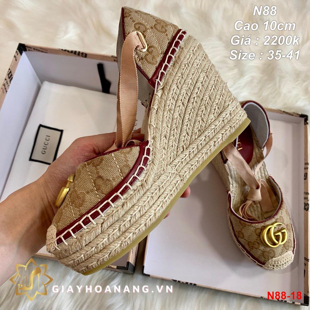N88-18 Gucci sandal cao 10cm siêu cấp