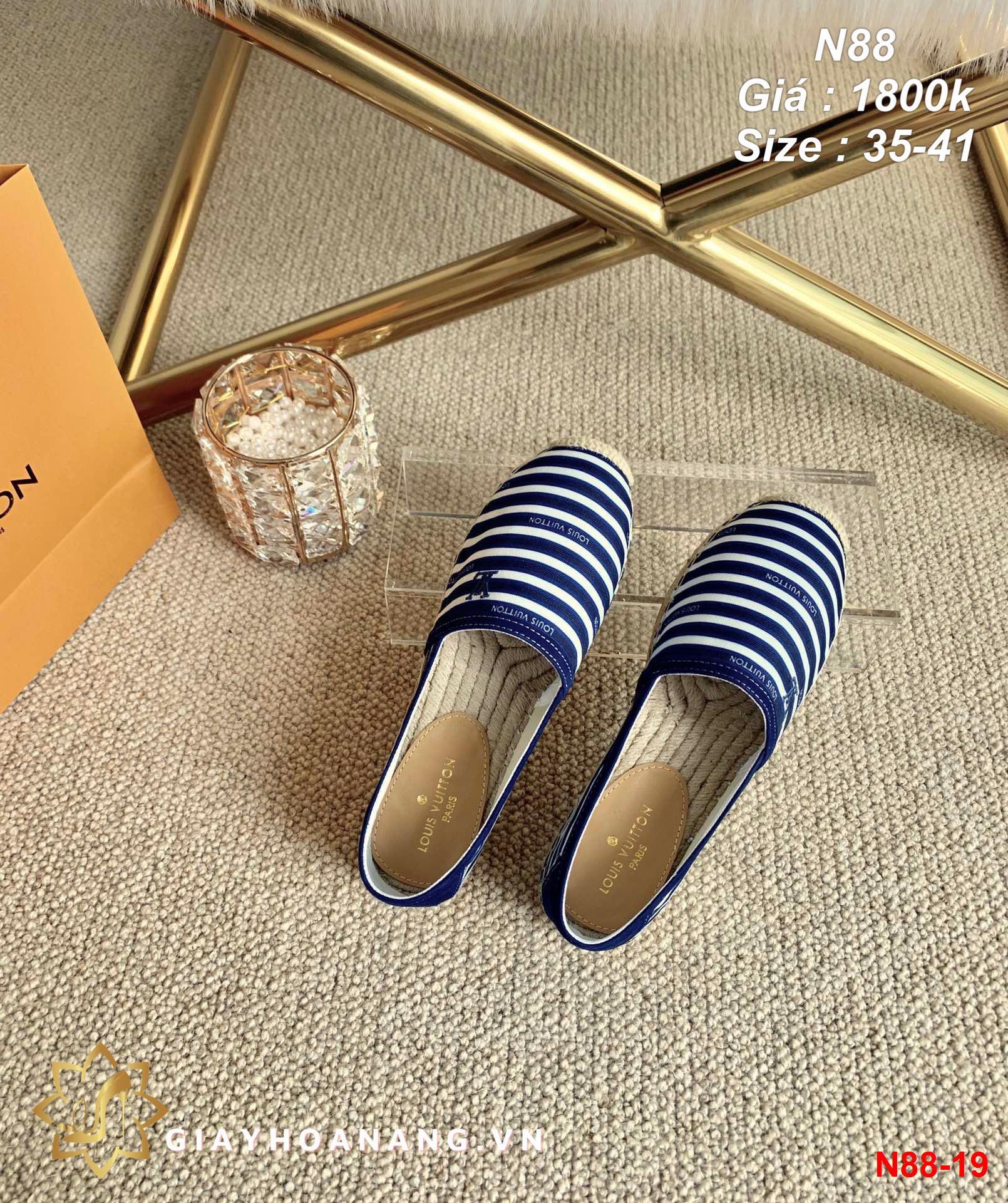 N88-19 Louis Vuitton giày lười siêu cấp