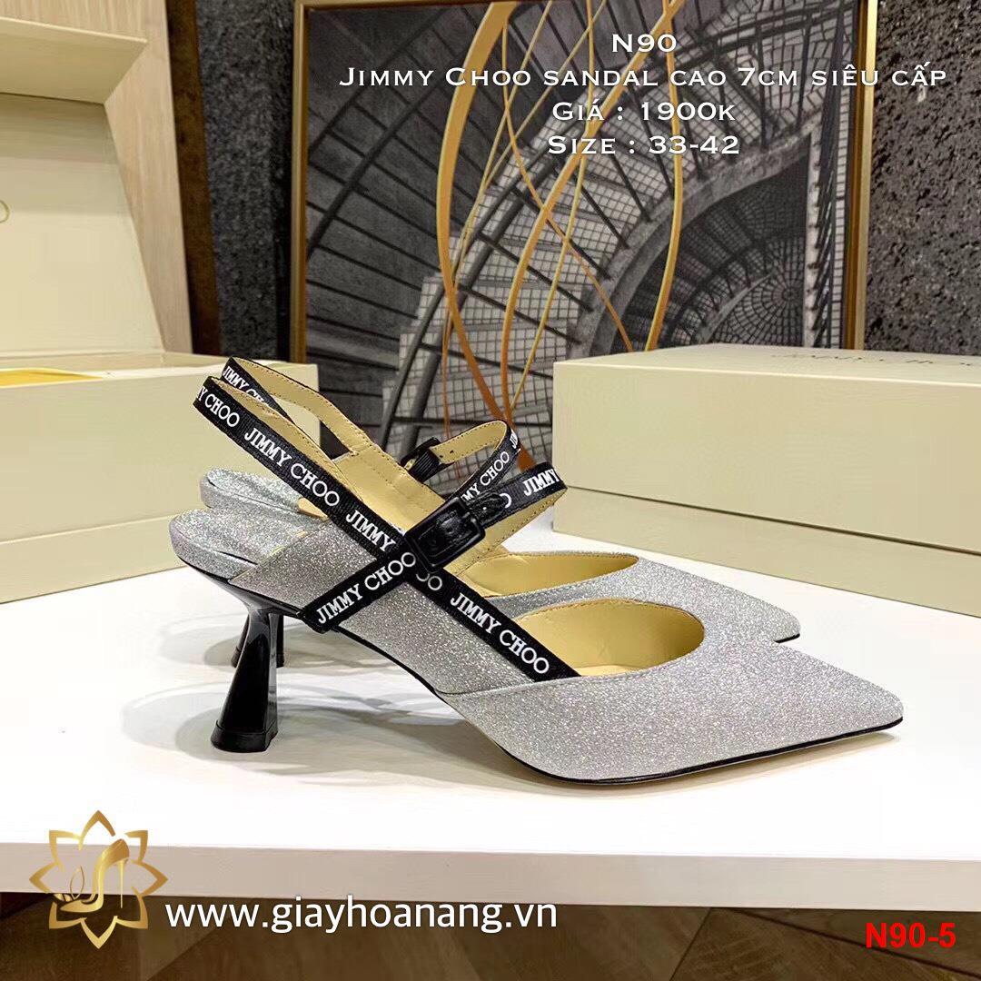 N90-5 Jimmy Choo sandal cao 7cm siêu cấp