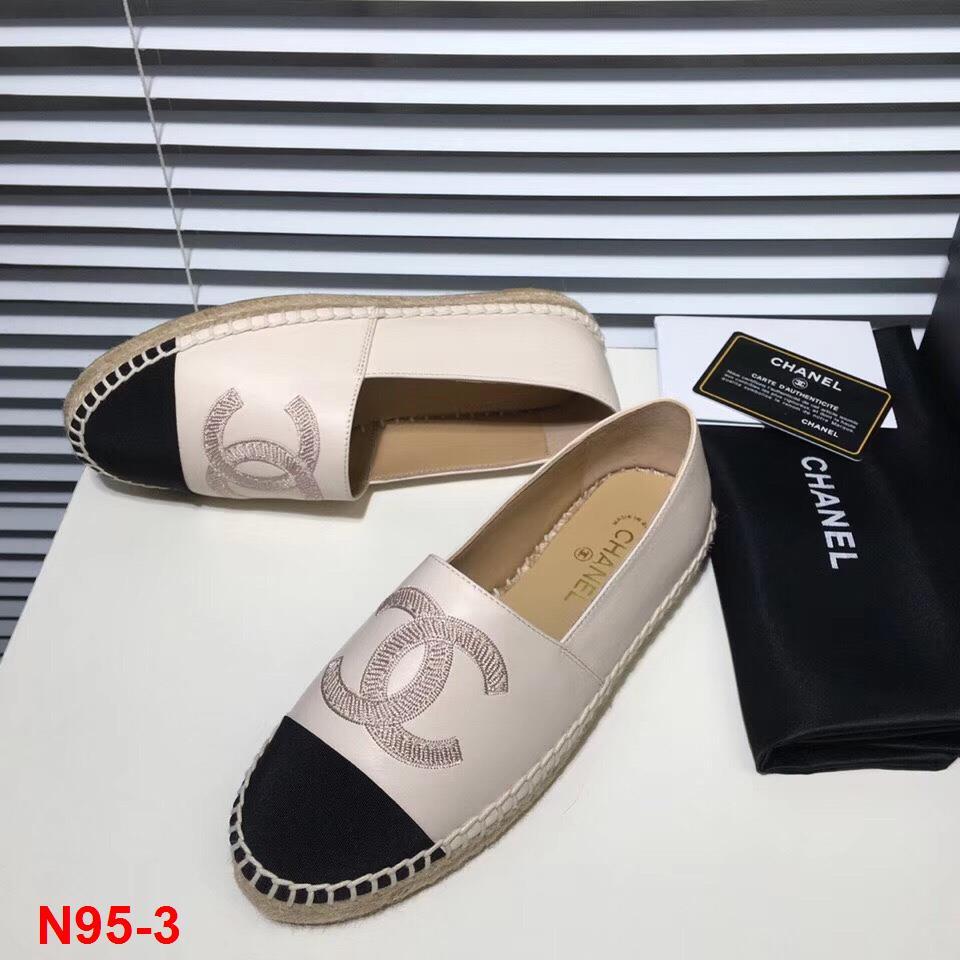 N95-3 Chanel giày lười đế cói siêu cấp