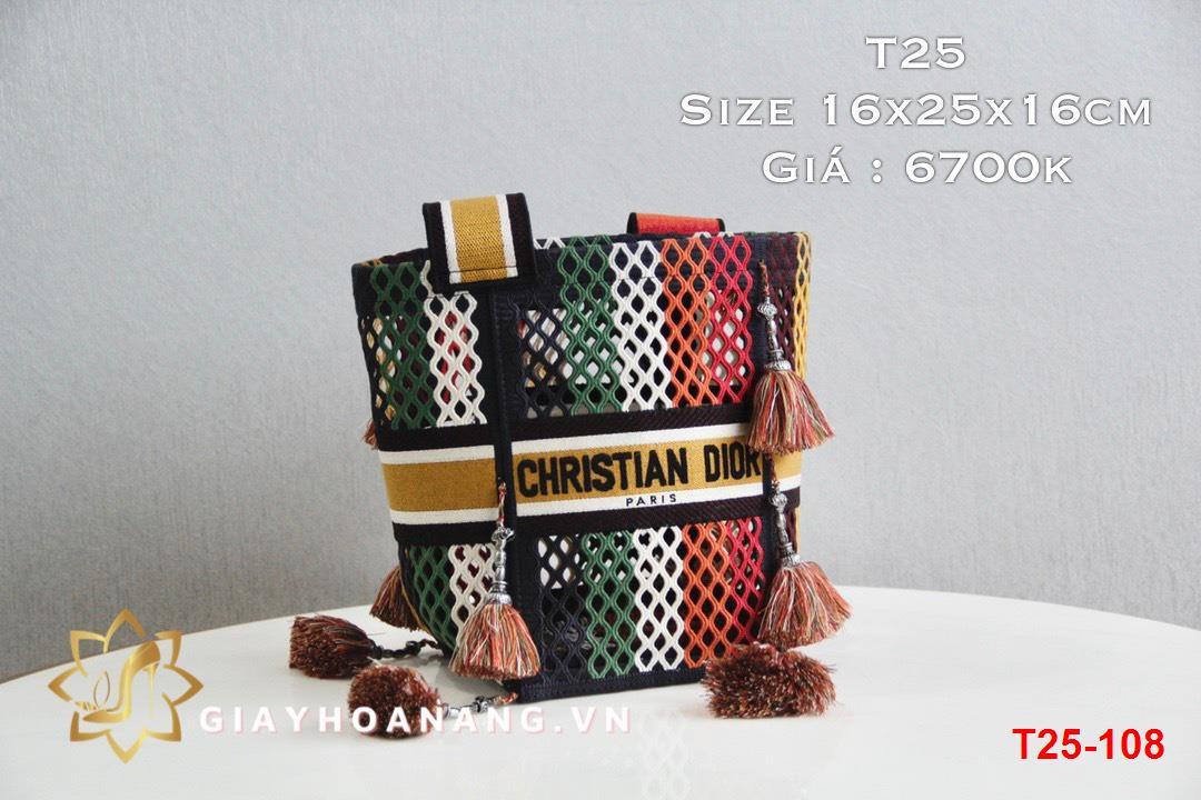 T25-108 Dior túi size 16cm siêu cấp