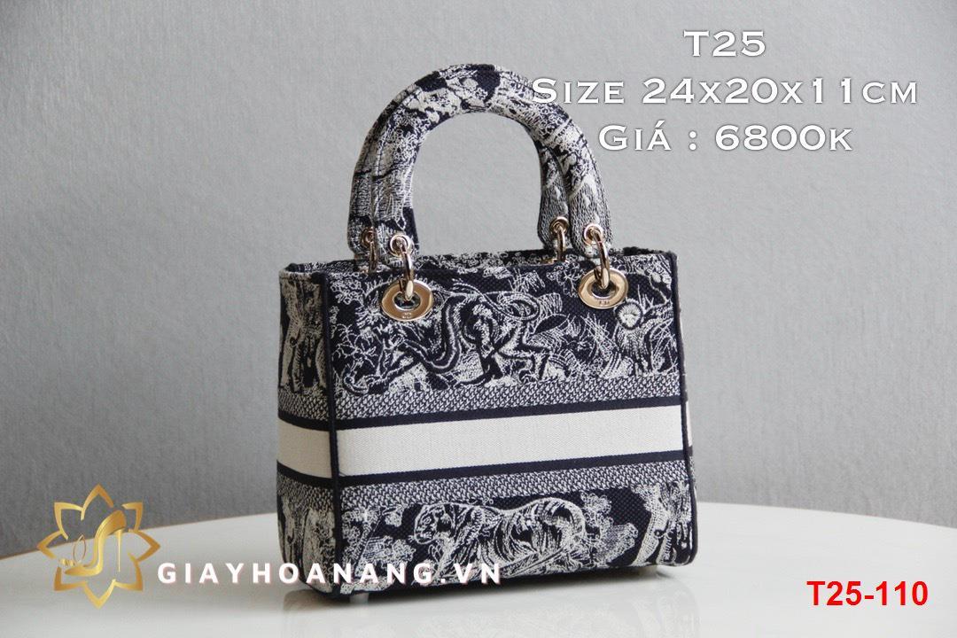 T25-110 Dior túi size 24cm siêu cấp