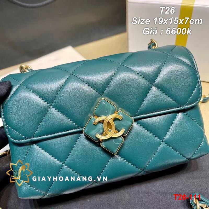 T26-111 Chanel túi size 19cm siêu cấp