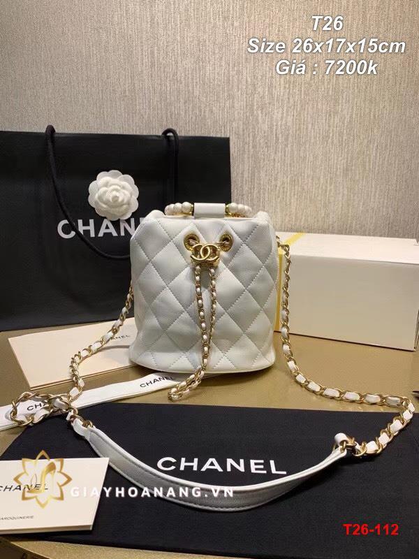 T26-112 Chanel túi size 26cm siêu cấp