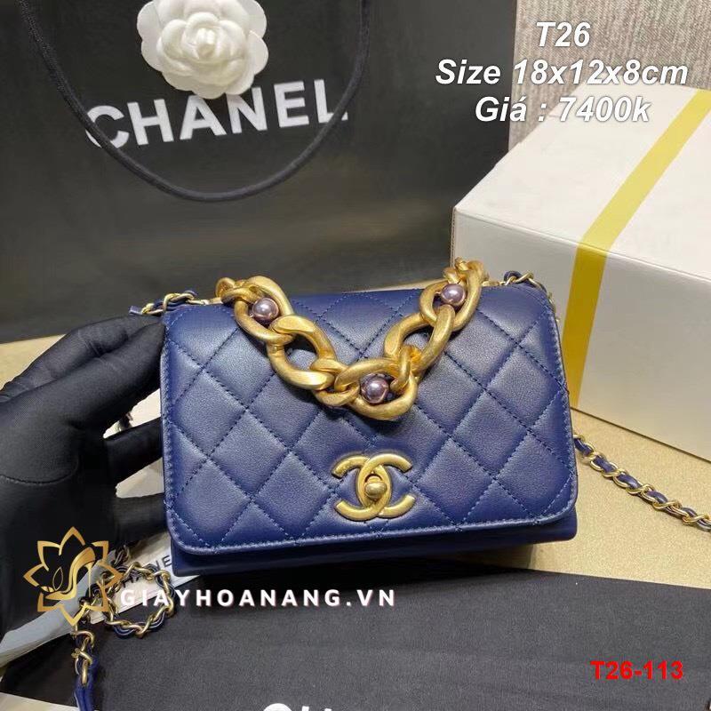 T26-113 Chanel túi size 18cm siêu cấp