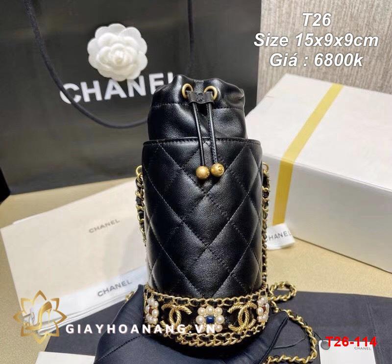 T26-114 Chanel túi size 15cm siêu cấp