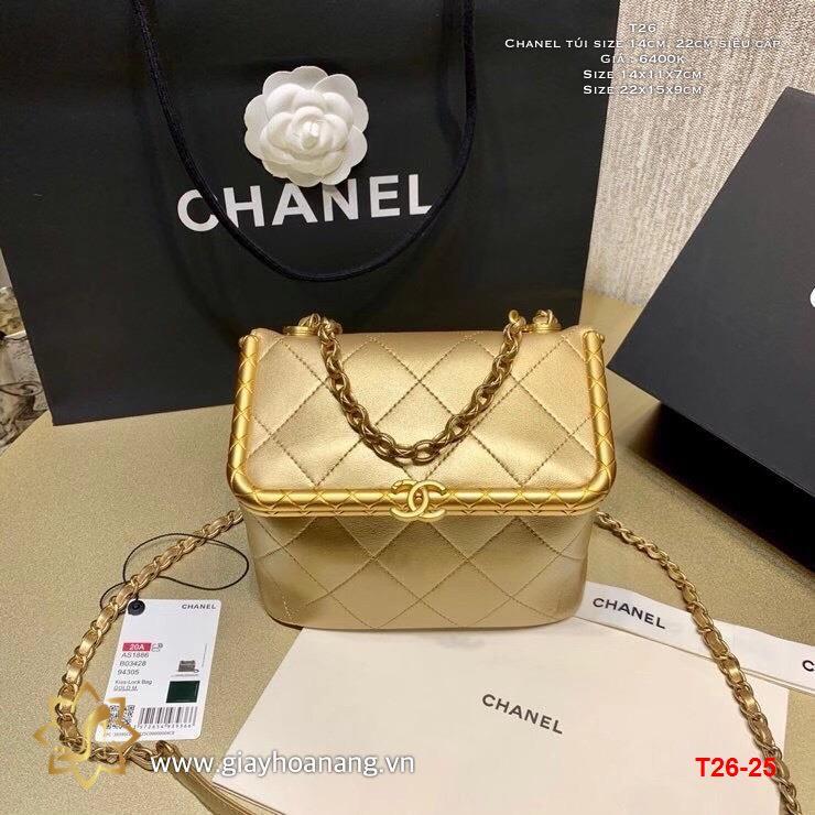 T26-25 Chanel túi size 14cm, 22cm siêu cấp