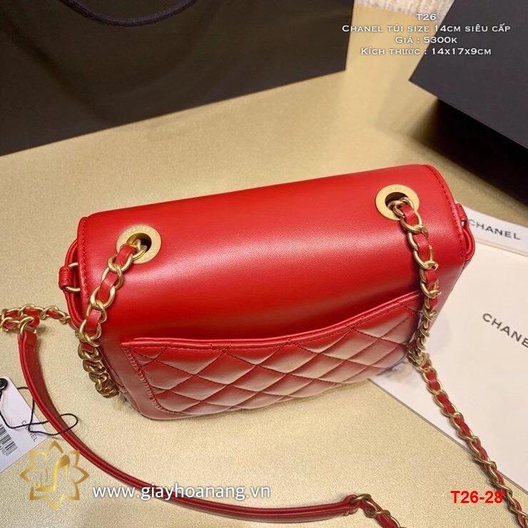 T26-28 Chanel túi size 14cm siêu cấp