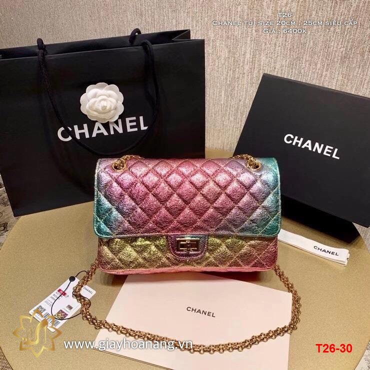 T26-30 Chanel túi size 20cm , 25cm siêu cấp